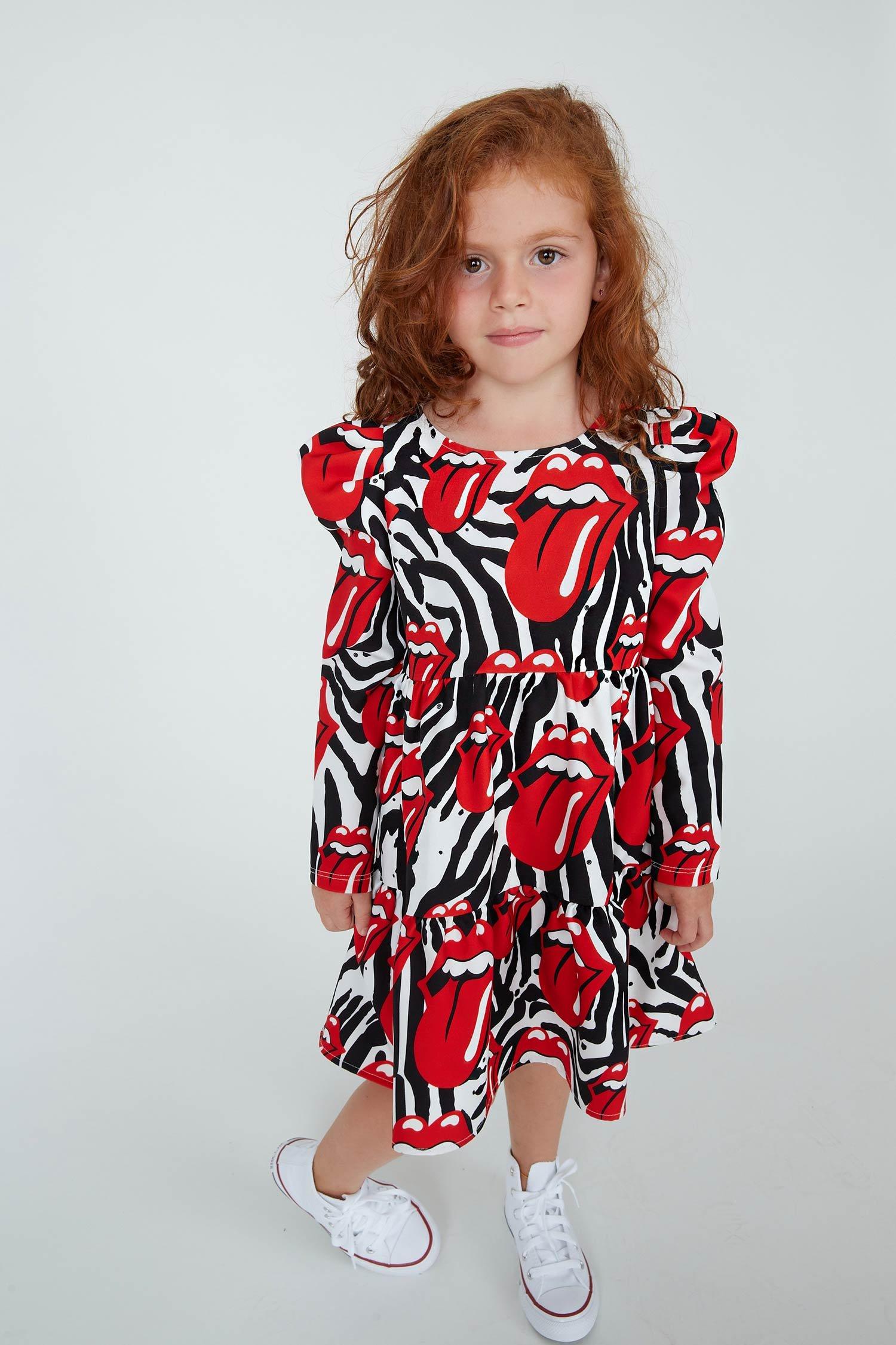 ROLLING OVER DRESS - GIRL